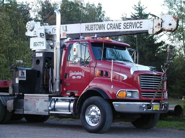 Hubtown Crane Service: truck and crane